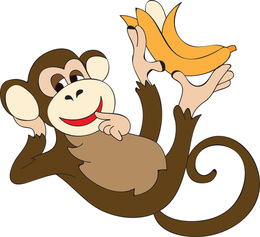 Banana Hunting Monkey